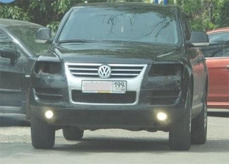 Защита оптики на а/м VW Touareg