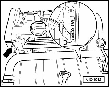 номер двигателя фольксваген Passat 2002-2005, Audi A6 2001-2004, Audi A4 2001-2005