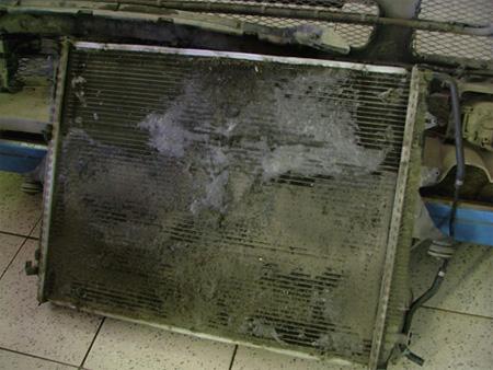 Забитый радиатор Seat
